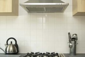 Stove hoods are effective for keeping kitchen walls and ceiings clear of greasy deposits.