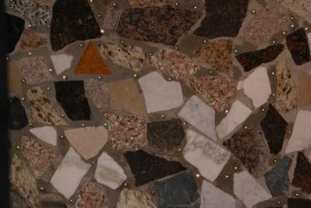 Mosaic tile floors are one example of flooring that can be begun nearly anywhere.