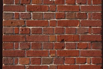 Brick facings -- the visible bricks of your wall -- may or may not be structural.
