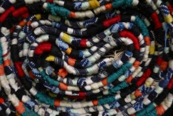 Braided rag rugs don't take that long to make.