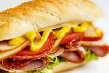 A sandwich can be a high-carbohydrate, high-protein meal.