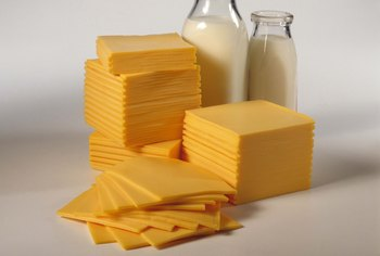 Some types of American cheese contain gluten.