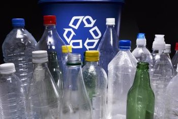 Various kinds of bottles are made of thick plastic.