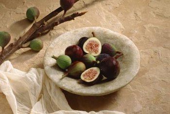 Fresh figs are soft, sweet and full of small, edible seeds.