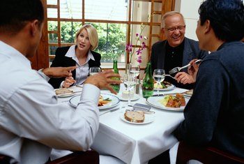 Most business lunches are only 50 percent deductible.