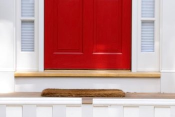 In feng shui practices, a red door welcomes wealth into the home.