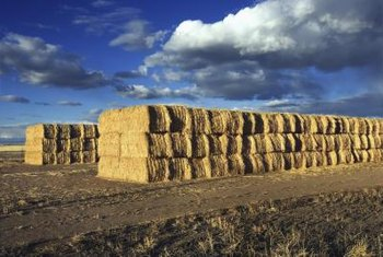 The shape of the bale is important, because round bales may roll, making the wall unsafe.
