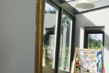 Mirrors enhance the sunlight in a room.
