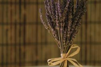 Dried lavender arrangements add instant wow to your tabletop decor.