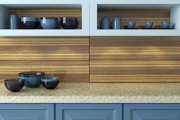 Painted, open and mixed finish cabinets provide a range of cabinetry styles.