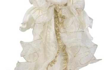 An angel figurine may inspire a centerpiece.