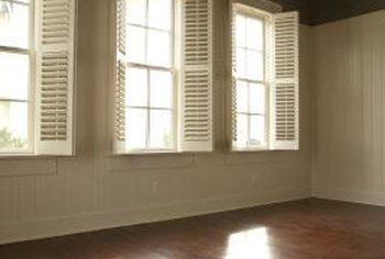Built-in shutters eliminate the need for curtains.