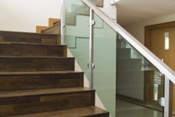 It's difficult to discern laminated stairs from solid wood.
