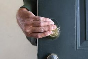 Night latches provide addition security on exterior doors. & How to Install a Night Latch Door Lock | Home Guides | SF Gate