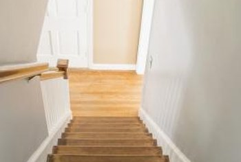 You can cover wood stair treads with many of the same floor covering materials.