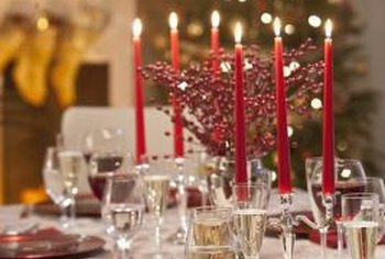 Candles add sparkle to any table theme.