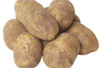 White potatoes have a thin skin and medium starch content.