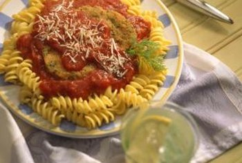 Pork cutlets and pasta make a hearty and healthy meal.
