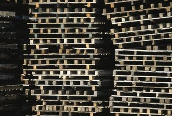 Recycled wooden shipping pallets are often free for the asking.