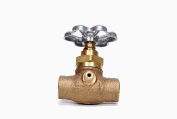 Use lead-free solder to connect brass valves to copper water lines.