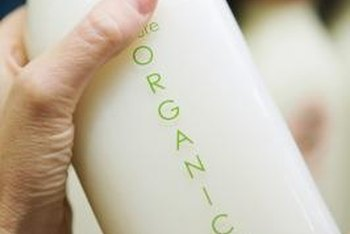 Organic milk doesn't contain antibiotics or hormones not naturally produced by cows.