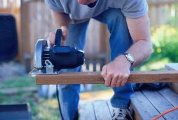 Installing decking boards diagonally is more work, but it pays off in increased stability.