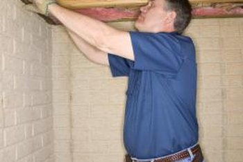 Insulate a cantilever overhang to save money on your energy bills.