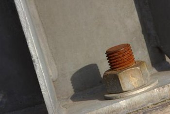 Steel nuts rust when they are exposed to air and moisture.