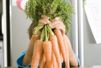 Small carrots are tender and juicy.