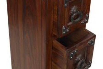 Glazing a cabinet can highlight the grain or deepen the color.