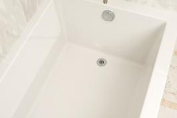 Bathtub drains need adjustment when stoppers don't do the job of preventing water from leaking out of the tub.