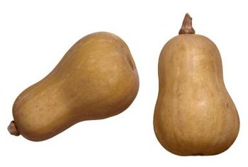 Mature butternut squash is tan or cream colored.