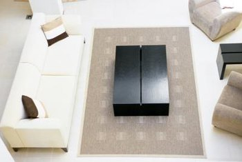 Coffee tables can be both decorative and functional.