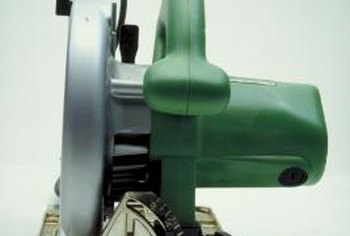 A circular saw offers a portable means of cutting miters.