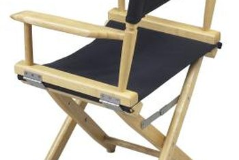 Folding Wooden Chairs With Canvas Seats And Backs Can Painted To Match Any  Decor.