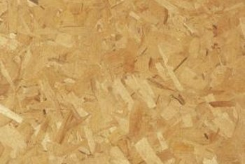 The glued-together wood chips in particle board don't always hold nails well.