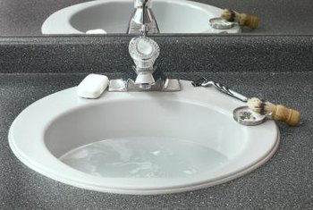 Acrylic sinks resist staining.