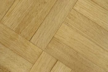 Parquet tiles consist of small strips of wood glued together.