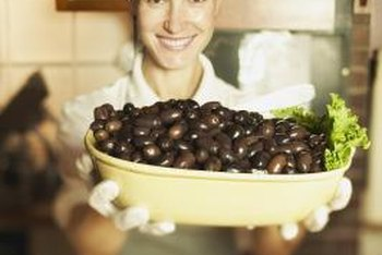 Black olives add the finishing touch to many dishes.