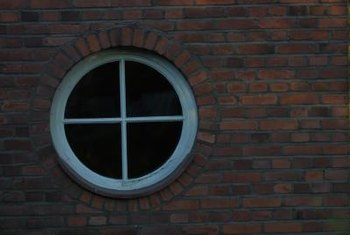 A round window adds interest to your home.