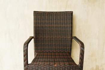 Sturdy faux wicker can still be defeated by harsh outdoor conditions.