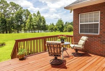 The deck color contributes powerfully to a home's appeal.