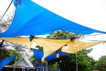 Indoor shade sails never take a beating from high winds as do their outdoor counterparts.