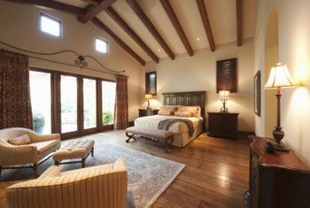 In the split-bedroom design, the master suite often spans the home's width.