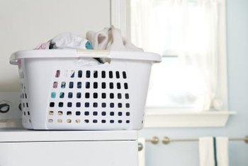Laundry baskets set on the dryer cause scratches; consider a laundry table, if possible.
