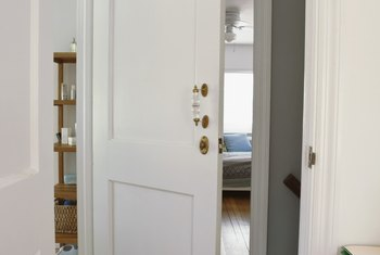Hollow-core doors are most often used for interior rooms.