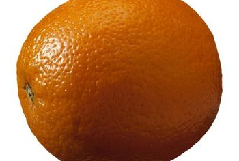 Navel oranges get their name from the dimple on the fruit's apex.