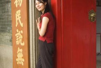 A red door attracts good fortune, according to feng shui.