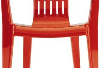 If you refinish plastic garden chairs with general-purpose latex or oil paints, the finish will not last.
