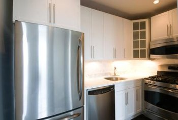 Clean, shiny stainless steel appliances add a modern flair to any kitchen.